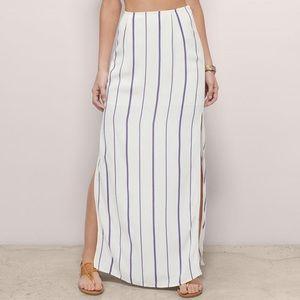 💖 Tobi Vertical Striped Maxi Side Slit Skirt 💖